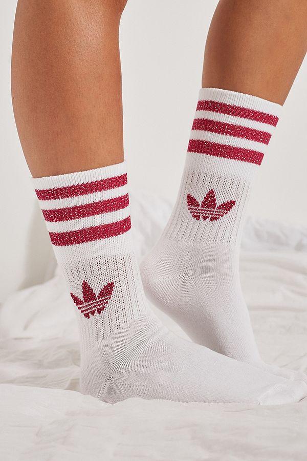 adidas-originals-white-and-burgundy-socks by adidas-originals