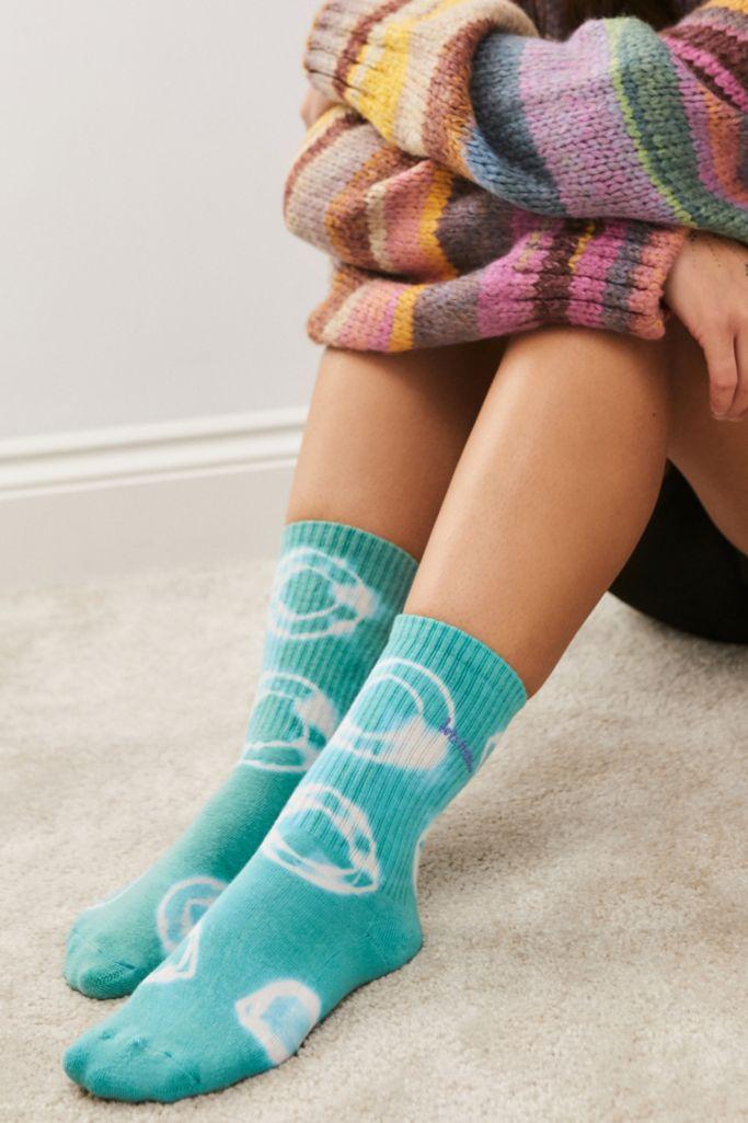 iets frans... Green Batik Tie-Dye Socks urban outfitters
