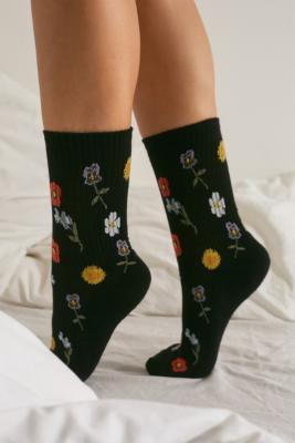Uo Wildflower Socks by Urban Outfitters