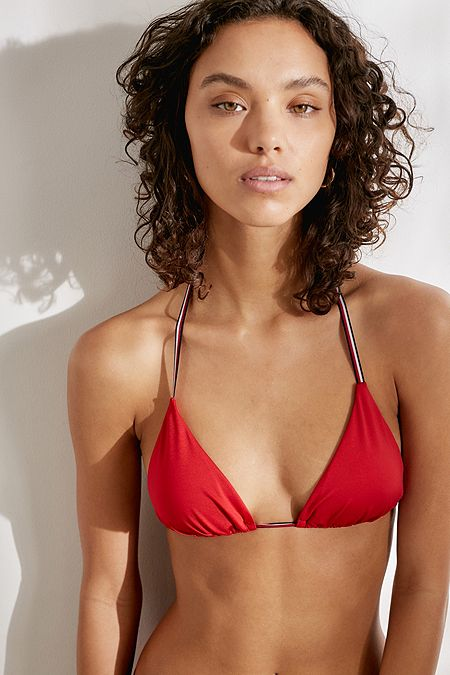 3fdc843df4157 Tommy Hilfiger Core Red Triangle Bikini Top. Quick Shop