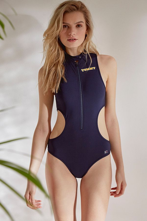 5ad2f013b54ff Tommy Hilfiger Cut-Out One-Piece Swimsuit | Urban Outfitters UK