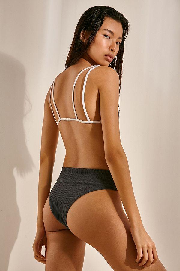 0020dac1f1b Slide View  2  RVCA Linear Ribbed High-Rise Bikini Bottoms