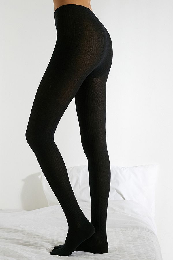 Uo Textured Knit Tights by Urban Outfitters