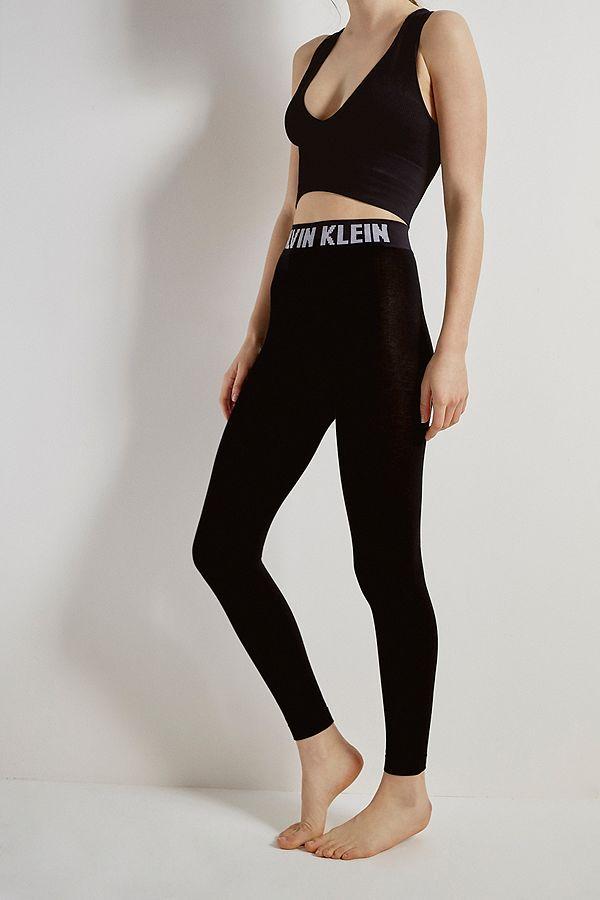 dfc314d4c8f7e Calvin Klein – Moderne Leggings aus Baumwolle mit Logo