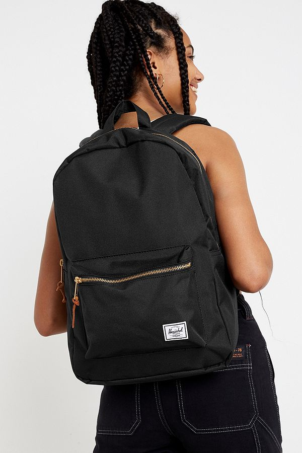 huge sale look for how to buy Herschel Supply Co. Settlement Black Backpack | Urban Outfitters UK