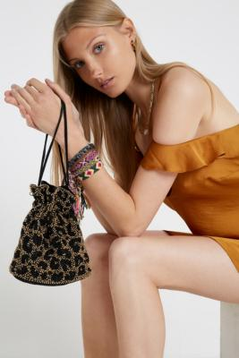 Skinnydip Tilly Leopard Print Beaded Crossbody by Skinnydip