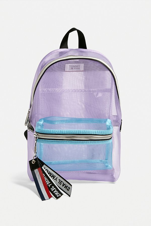 154265c8 Tommy Jeans Mesh Logo Tape Mini Backpack | Urban Outfitters UK