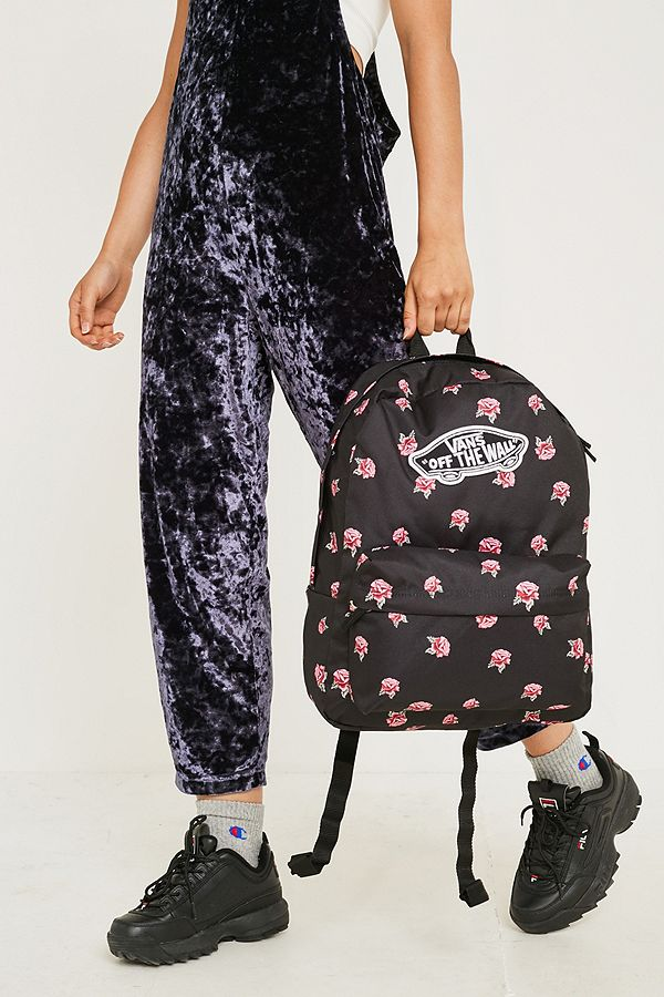 Vans Realm Rose Black Backpack