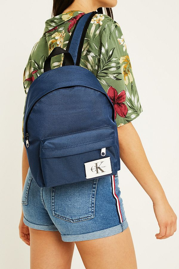 fdd67c58cb8 Calvin Klein Sport Essential Blue Backpack | Urban Outfitters UK
