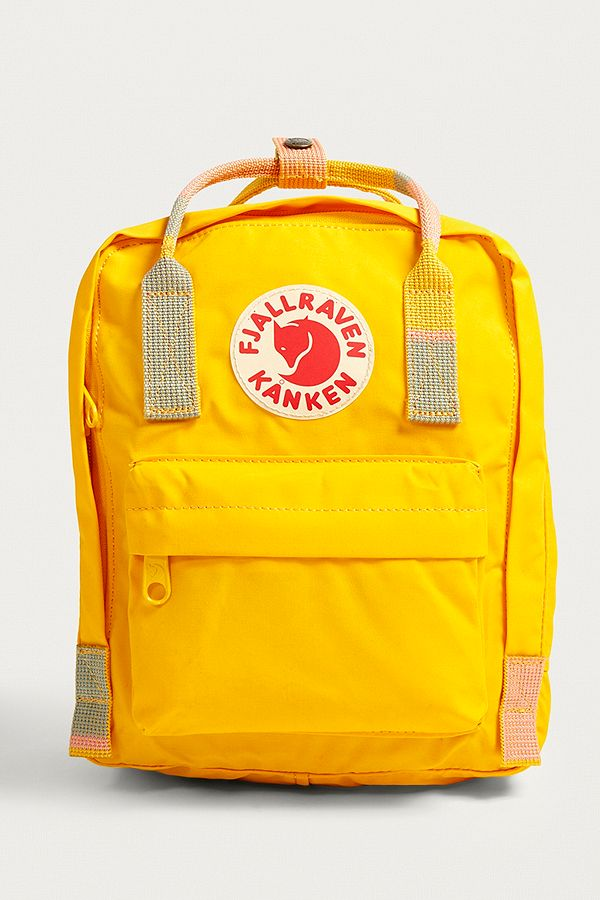 bb5064a7 Fjallraven Mini Kanken Warm Yellow Random Blocked Backpack | Urban ...