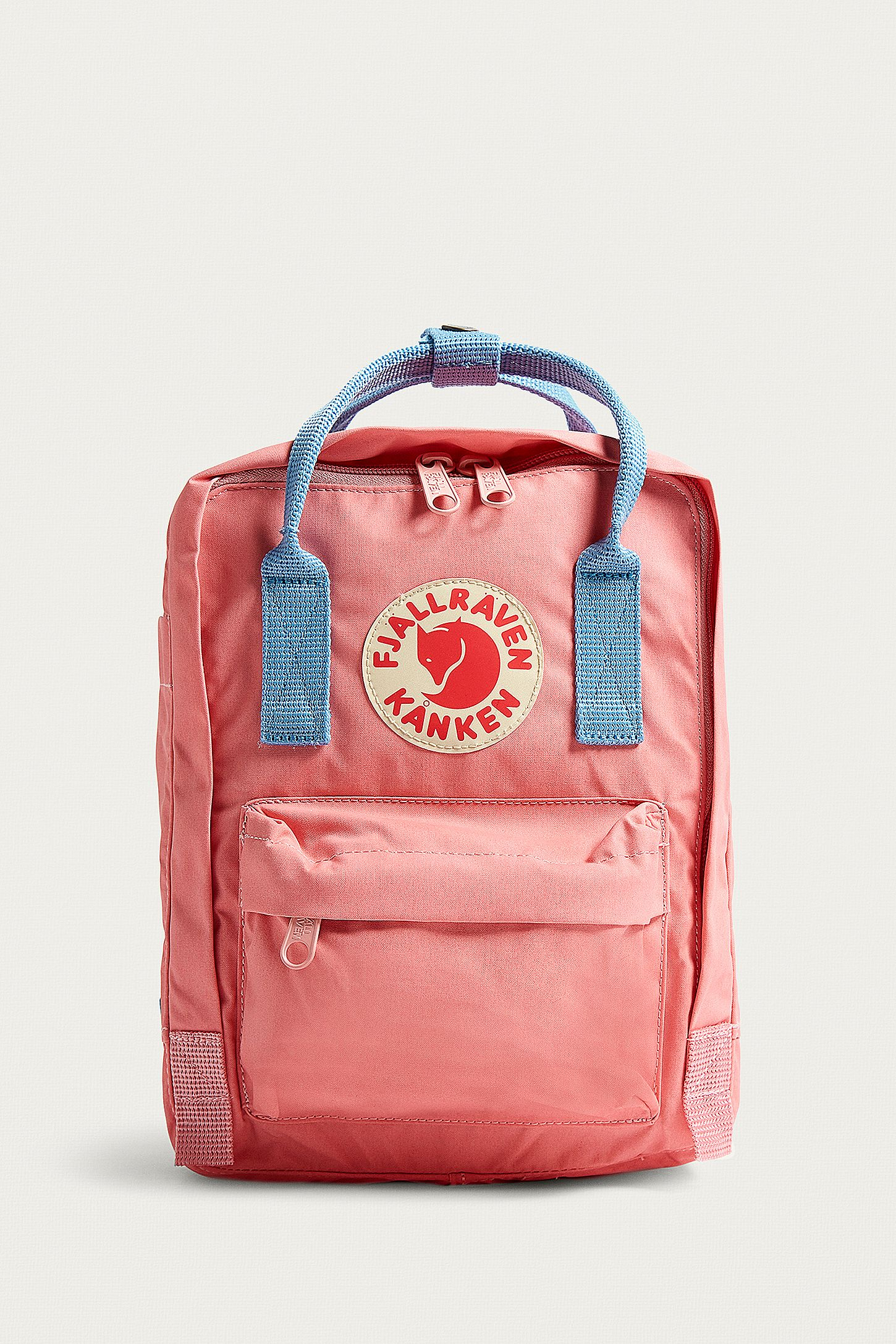 c94d2665ef3 Fjallraven Mini Kanken Pink and Air Blue Backpack. Click on image to zoom.  Hover to zoom. Double Tap to Zoom