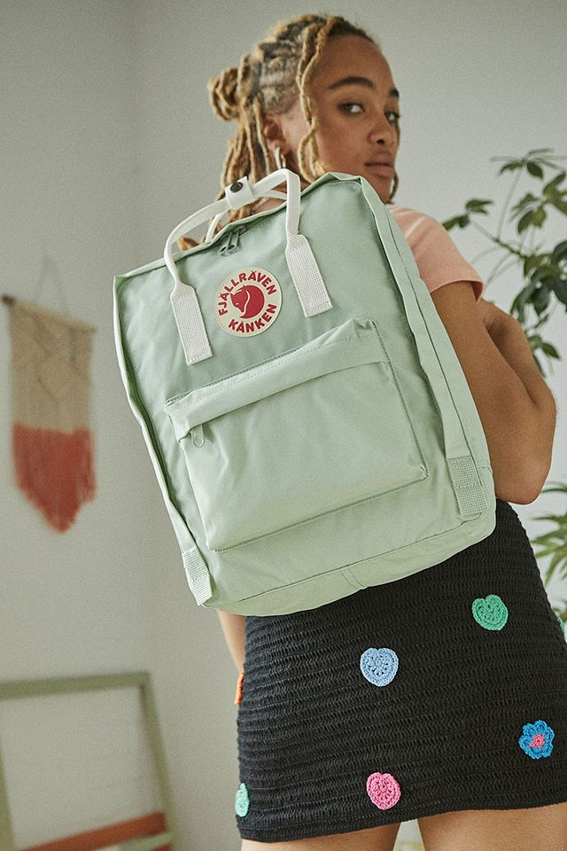 Urban Outfitters Fjallraven Kanken Mint & White Backpack