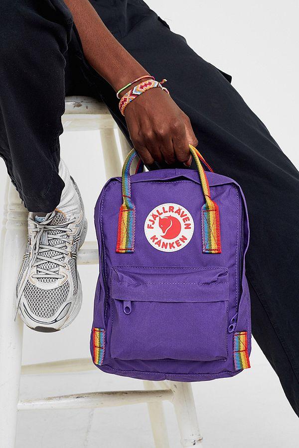 34eedd046e56c Slide View  1  Fjallraven Kanken Mini Rainbow Handle Backpack