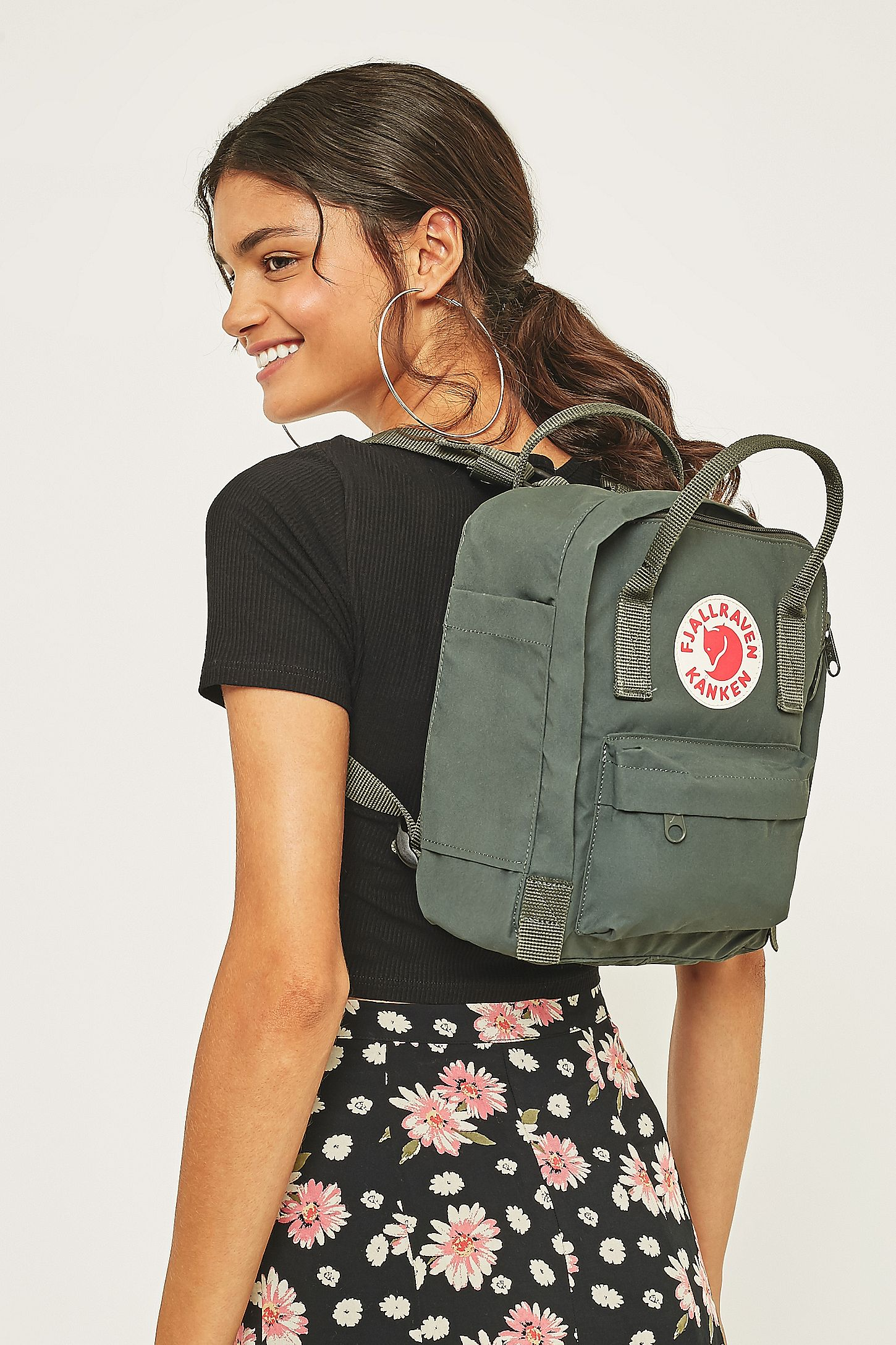 20b31ae73d Fjallraven Kanken Green Mini Backpack