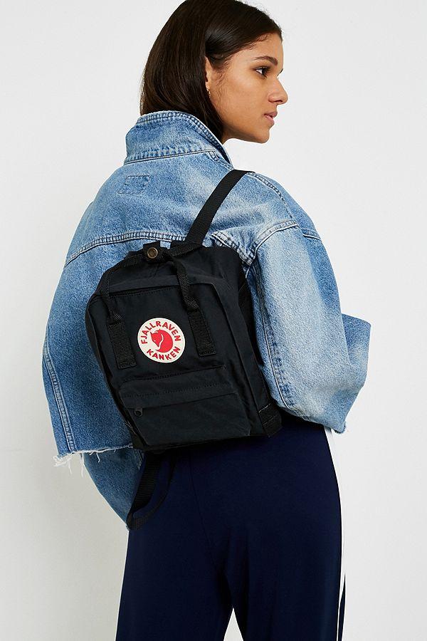 fjallraven mini backpack black