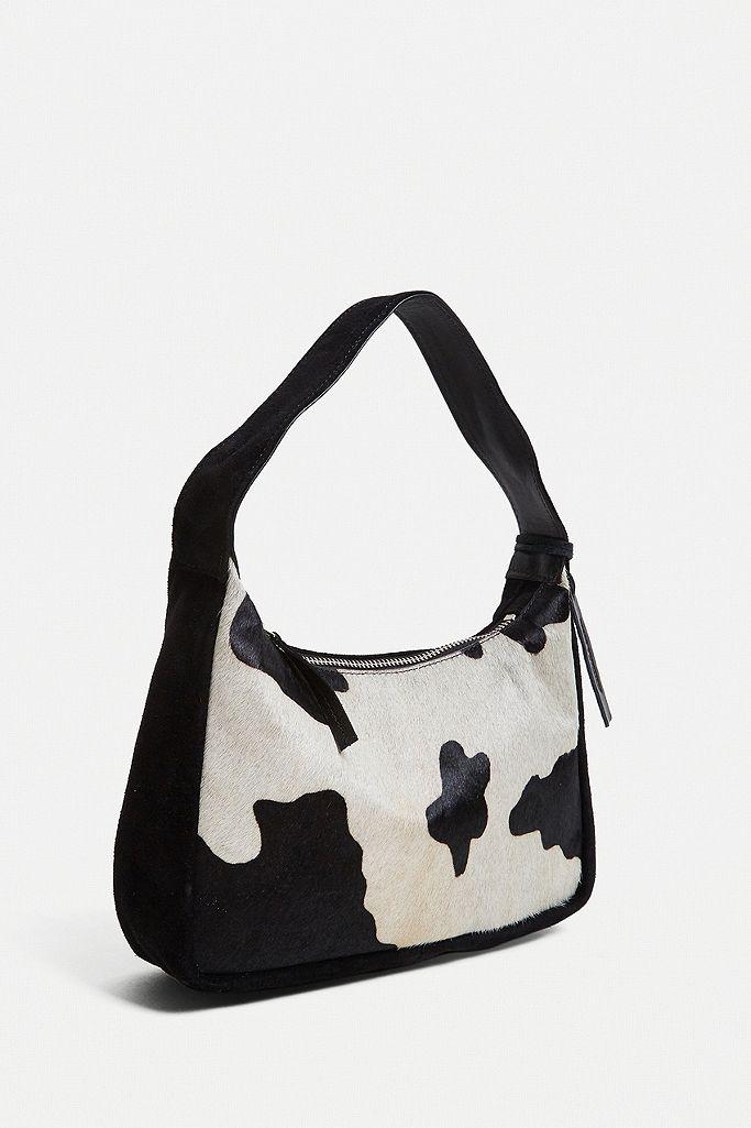 UO Suede & Pony Shoulder Bag