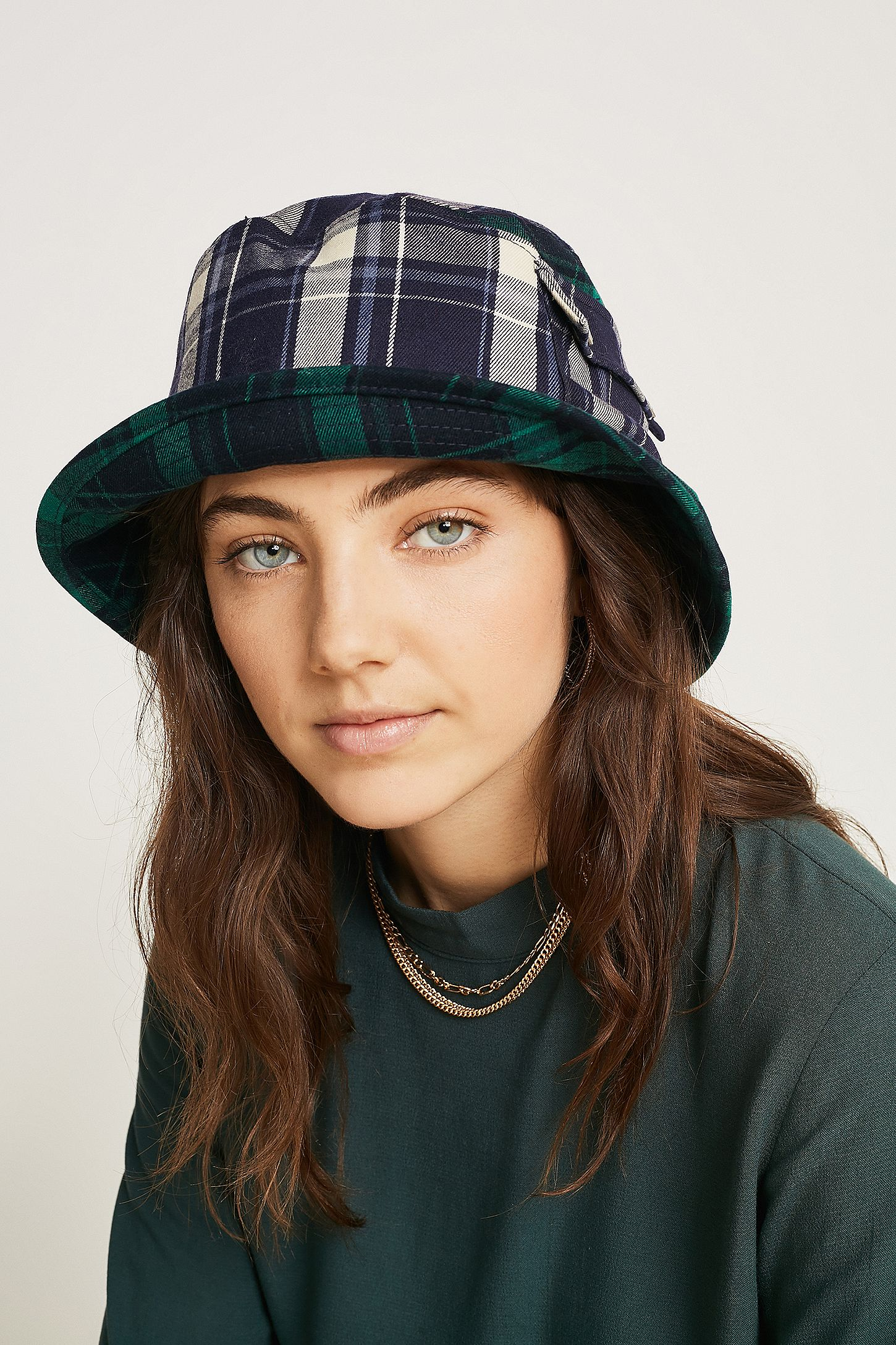 7b67b027f325a4 Kangol Plaid On Plaid Bucket Hat | Urban Outfitters UK