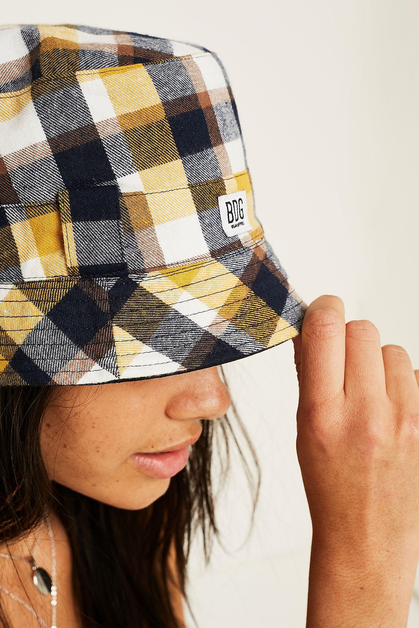 6c1e5a79f6c9a BDG Reversible Check Bucket Hat