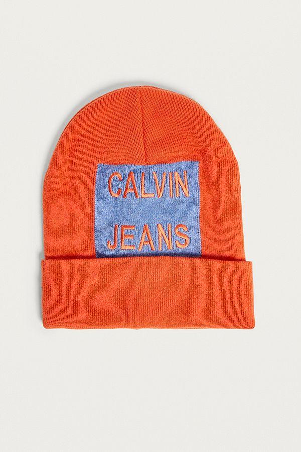 b34f0f74528 Calvin Klein Logo Beanie