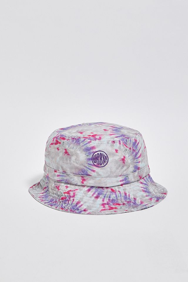 UO Bubble Logo Tie-Dye Canvas Bucket Hat