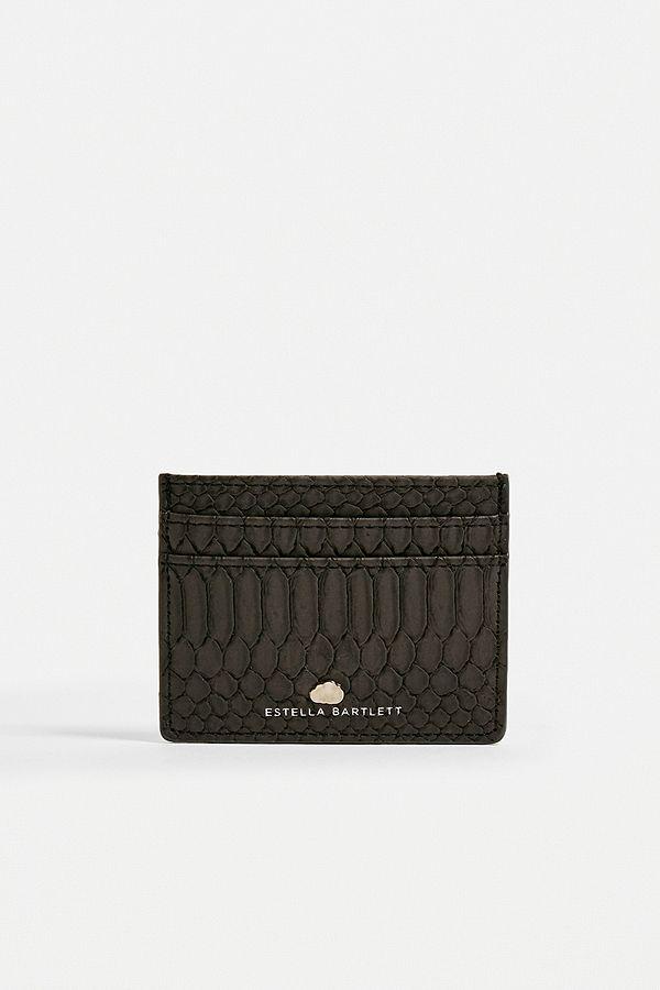 grossiste 78a91 c0b21 Estella Bartlett - Portefeuille porte-cartes python noir