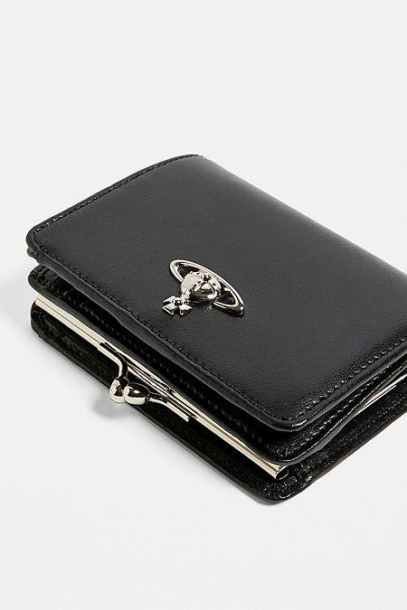 775f4343ec9a Vivienne Westwood Matilda Black Leather Wallet