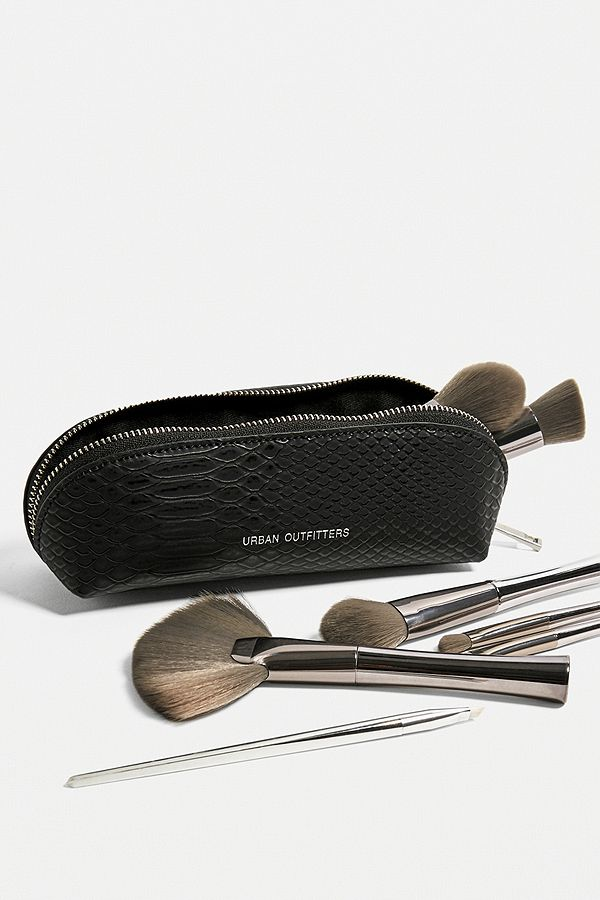 Uo Faux Croc Brush Holder Makeup Bag