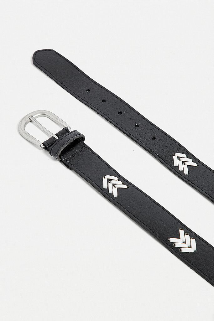 UO Woven Leather Belt