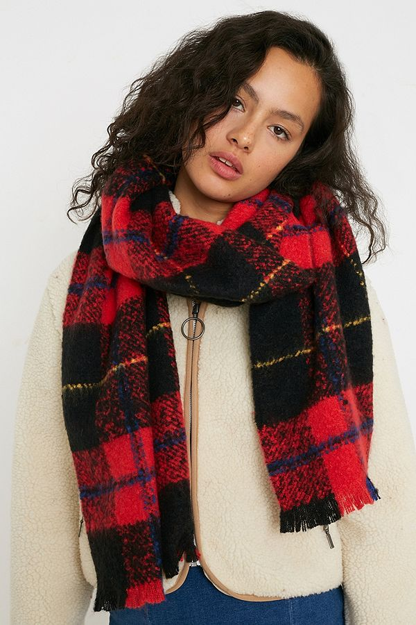 Uo Check Blanket Scarf by Urban Outfitters