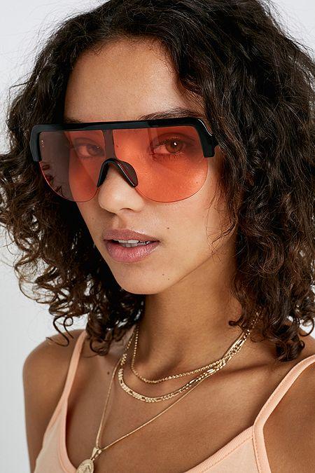 e3c194c53e UO Marli Half-Frame Visor Sunglasses