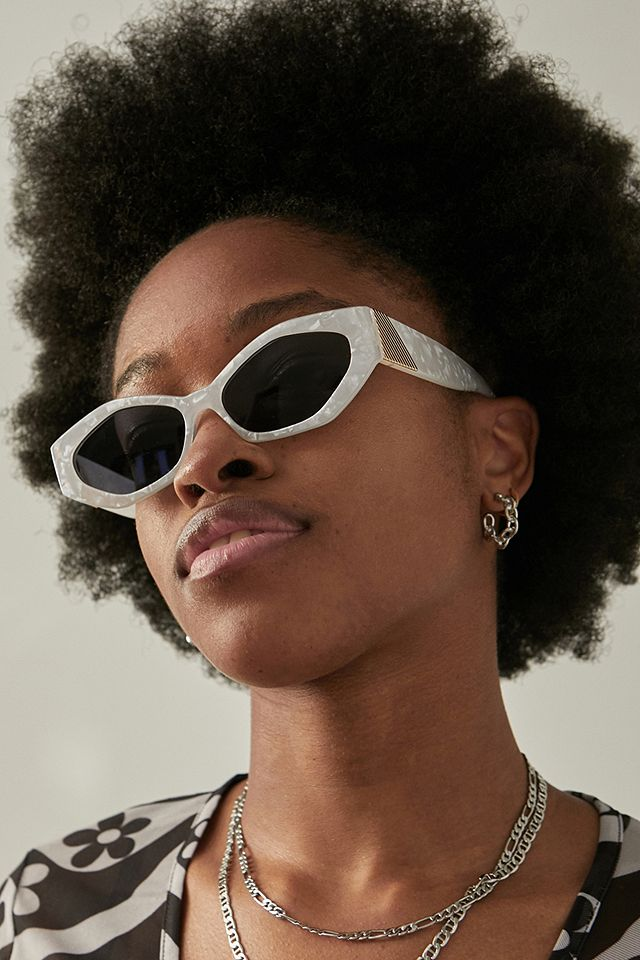 Angled Cat Eye Sunglasses Urban Outfitters