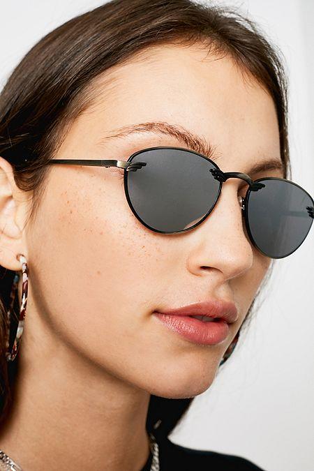 b16d1e297e21 Hindsight Vintage Shaw Black Sunglasses