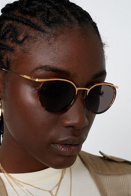 fdec99147c Hindsight Vintage Tortoise Brow Bar Sunglasses
