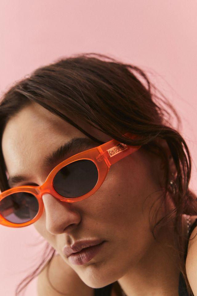 Hot Futures Cosmic Rebel Neon Orange Sunglasses