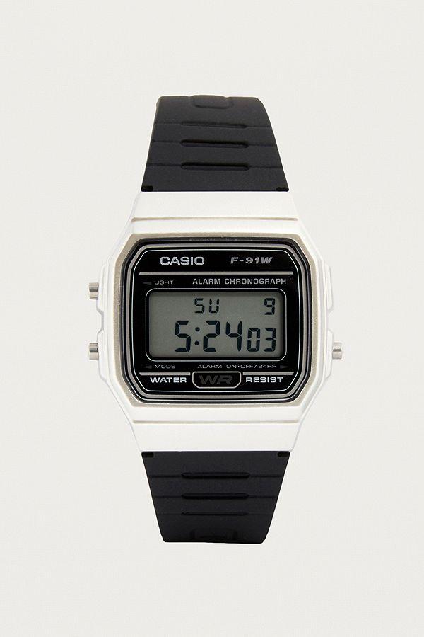 dcfdbe9fce3c Casio F-91W Retro Black Resin Strap Digital Watch