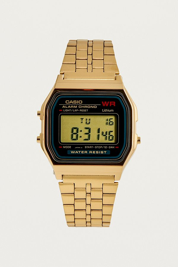 41e012daa84e Slide View  1  Casio WR Digital Vintage Gold Watch