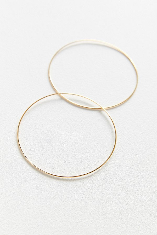96ee2bd65 18k Gold Plated Large Hoop Earring | Urban Outfitters UK