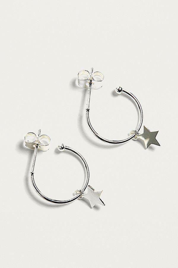 6b7970eb78 Estella Bartlett Star Charm Silver-Plated Hoop Earrings | Urban ...