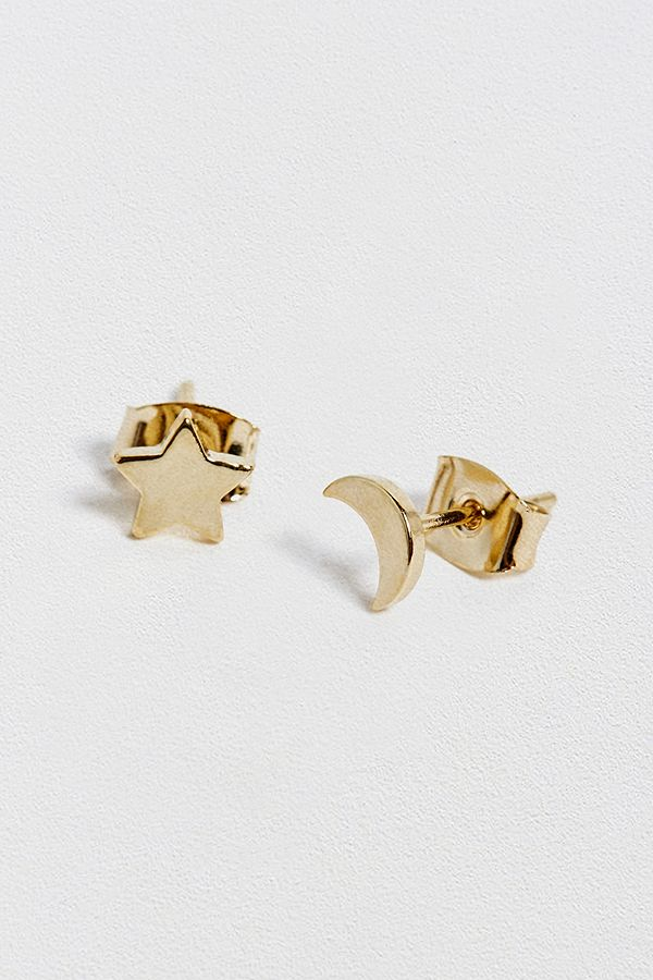 237d851d6499a Estella Bartlett Gold Moon and Star Earrings