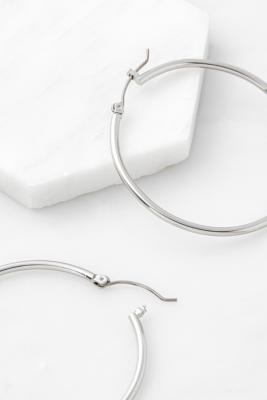 Thin Metal Large Hoop Earrings by Urban Outfitters