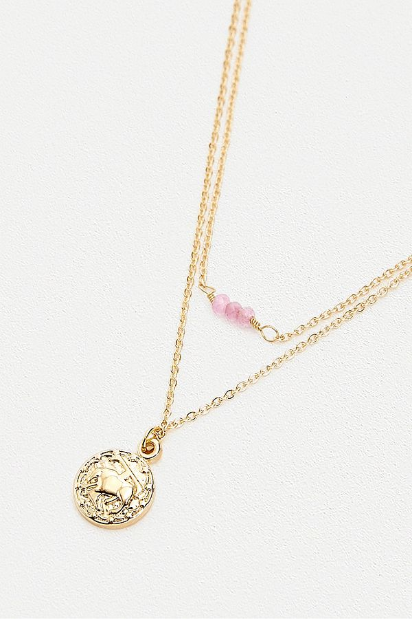 f416f2636dd690 Taurus Zodiac Sign Gold Necklace | Urban Outfitters UK