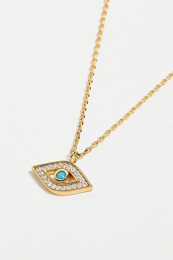 Estella Bartlett Evil Eye + Cz Pendant Necklace by Estella Bartlett