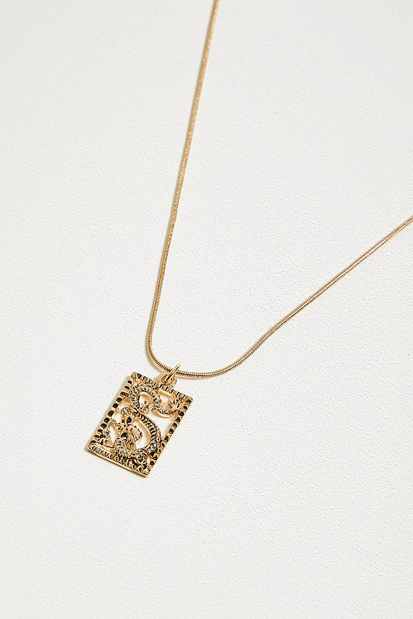 Collier Avec Pendentif Motif Dragon Ajouré by Urban Outfitters