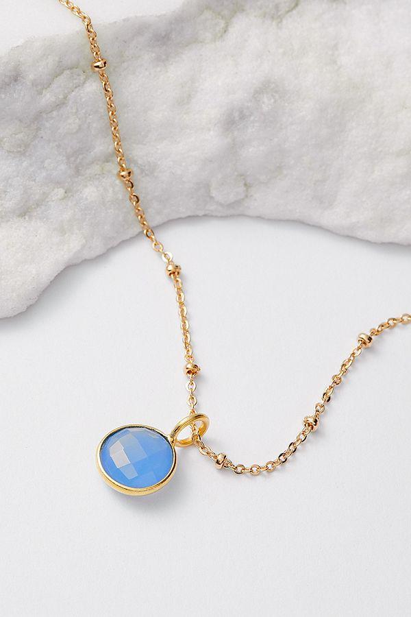 nouveau produit 0a268 d56fc Mirabelle - Collier plaqué or avec pierre de naissance mars