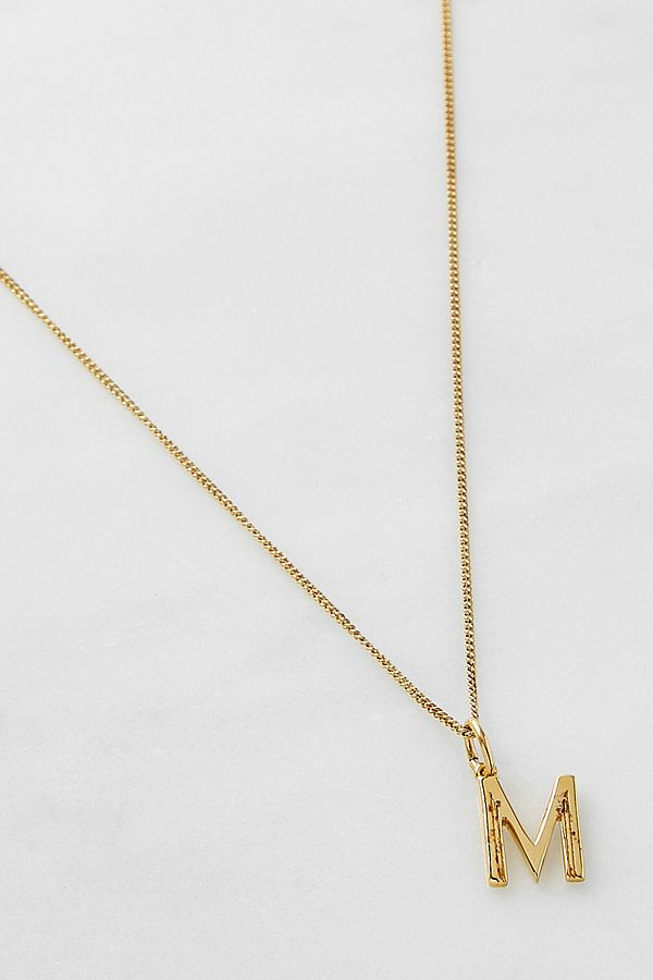 Rachel Jackson London 'm' Initial Pendant Gold Necklace by Rachel Jackson London