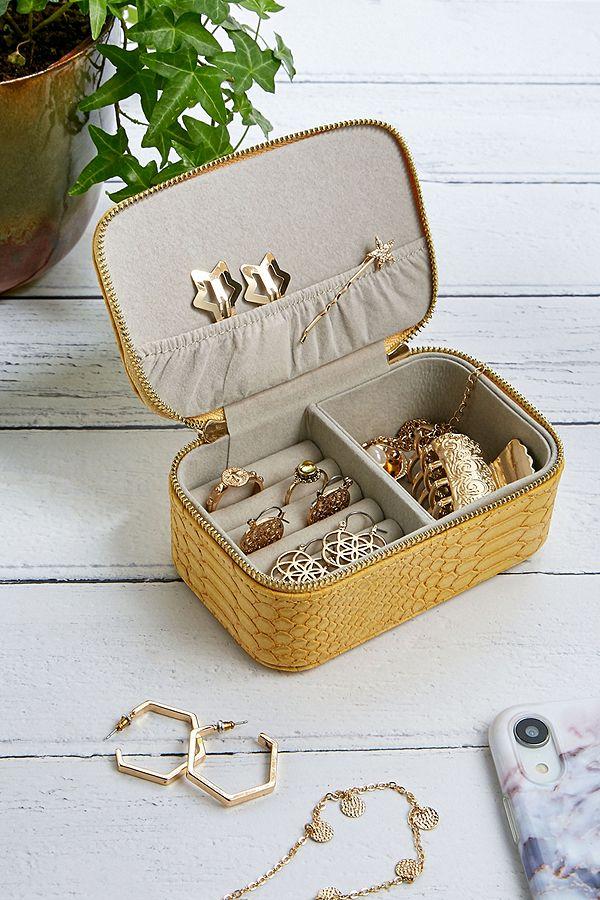 Estella Bartlett Yellow Python Jewellery Box by Estella Bartlett