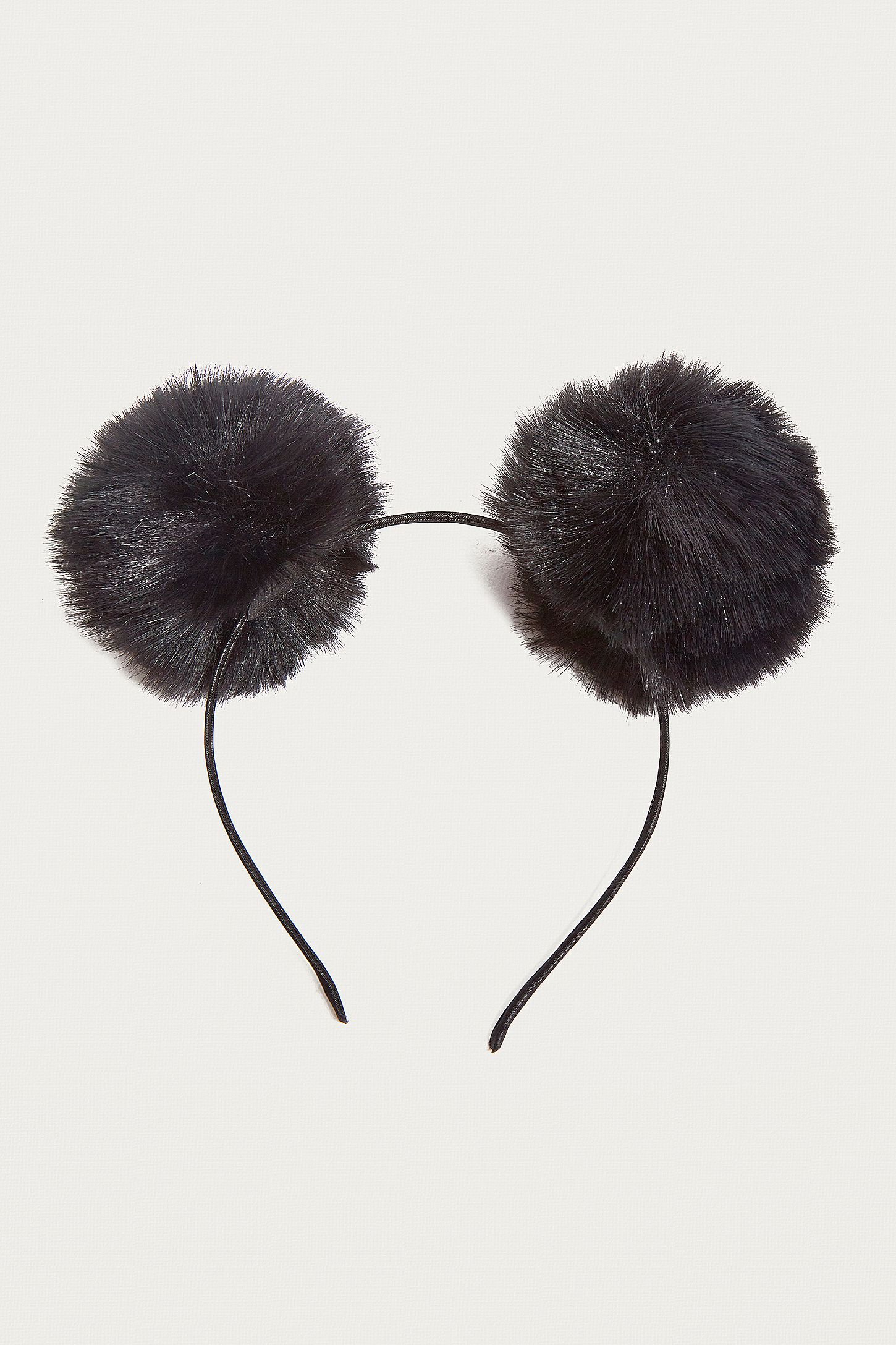 7d26bde28d2 Fluffy Pompom Ear Headband. Click on image to zoom. Hover to zoom. Double  Tap to Zoom