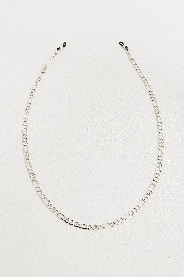 Frame Chain – Weißvergoldete Figaro Sonnenbrillenkette by Frame Chain Shoppen