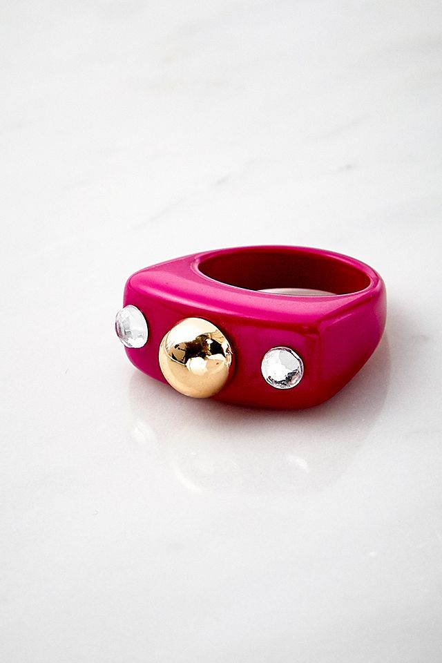 Multi Gem Resin Ring Urban Outfitters