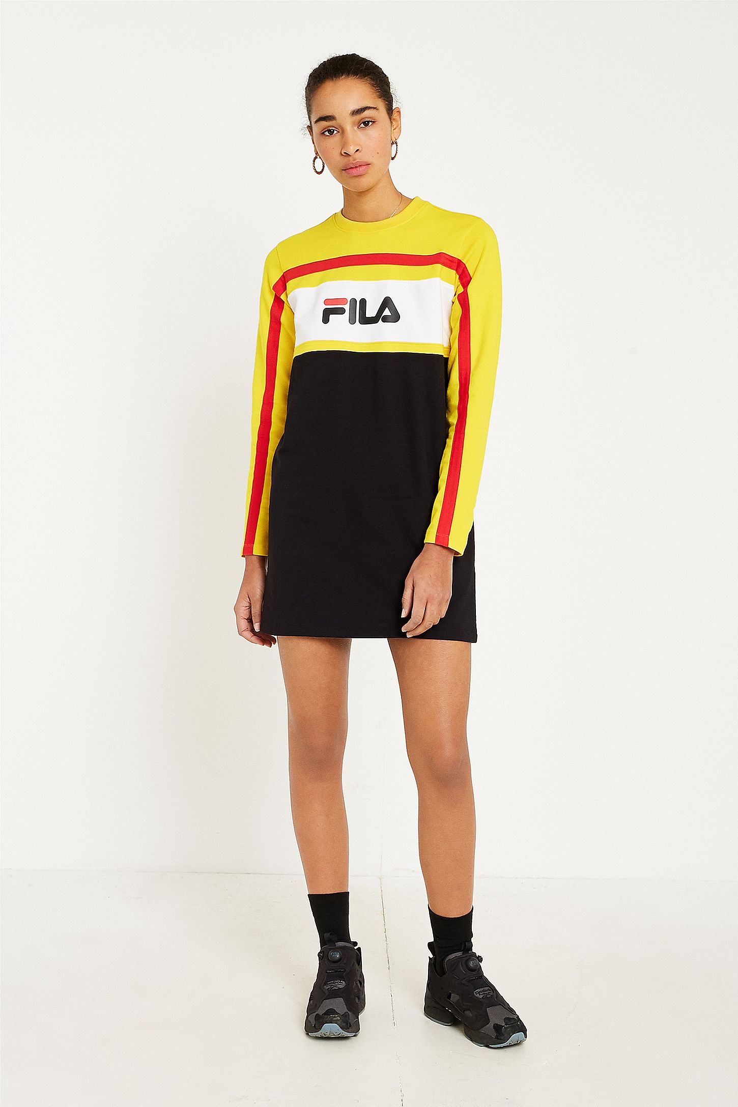 50f024929a FILA Belle Logo Long Sleeve Dress. Click on image to zoom. Hover to zoom.  Double Tap to Zoom